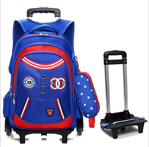 Shopping Trolley Luggage Bag With Wheels (Blue) - 4