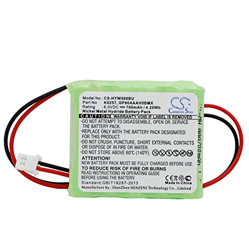 Ni-MH Alarm System battery 700mAh/4.20Wh Compatible For Honeywell Fits Model 55111-05/5800RP Wireless/5800RP Wireless Repeater rechargeable replacement Alarm System battery 12 Months -