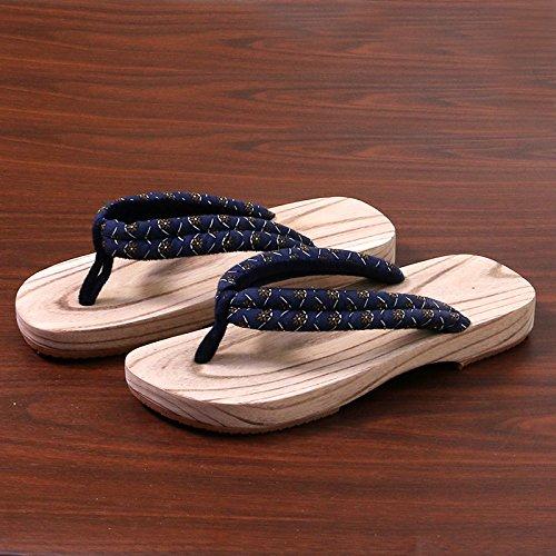 di metri maschio di 44 di legno legno di zoccoli in non di 27 scarpe slip legno 43 stile estivo e pantofole paio femmina modelli zoccoli In zoccoli cm blu giapponese carburo di uomini legno modelli w7qSAWZ6X6