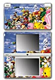 Super Smash Bros Melee Brawl Link Zelda Peach Dr Mario Ice Climbers Mewtwo Bowser Luigi Samus Video Game Vinyl Decal Skin Sticker Cover for Nintendo DSi System