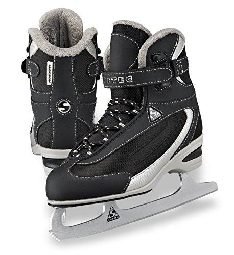 Classic Ice Skates (Jackson Ultima Softec Classic Junior ST2321 Kids Ice Skates - Black, Size 3)