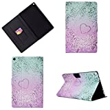 Uliking Stand Case for All-New Amazon Fire HD 10 Tablet (7th Generation 2017 & 5th Gen 2015),PU Leather Wallet Folio Smart Cover with Auto Wake/Sleep for Kindle Fire HD 10.1 inch, Pink Love Quicksand