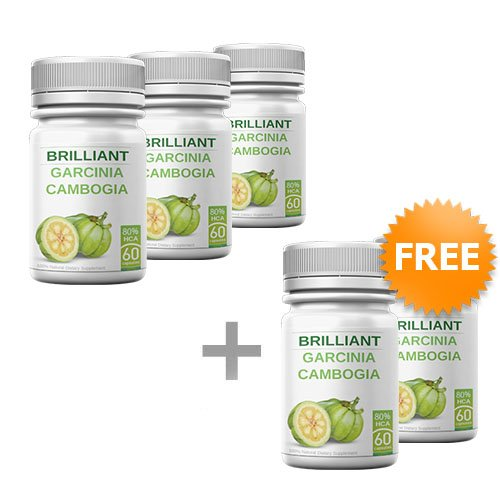 Brilliant Garcinia Cambogia - 5 Bottles - Diet Pills - 80% HCA - Extra Slim Formula - Appetite Suppressant - 60 Capsules by 18nutrition