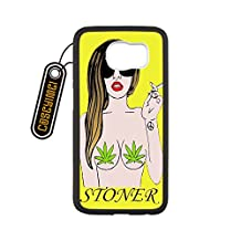 Country American Flag Marijuana Cannabis Weed Hemp Leaf Smoker Custom made Design Black Plastic and TPU Cell Phone Cases Cover for Samsung Galaxy S6 case