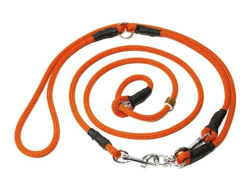 Mystique Retrieverleine Umhängeleine Hunting Profi 8mm L - 345cm orange ohne Zugbegrenzung
