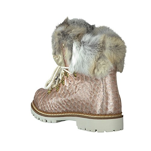 Nieuwe Italia Schoenen 1515404a / 54 Damen Stiefel Laarzen Rose Glitter