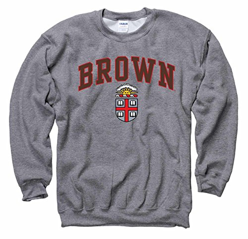 Campus Colors Brown Bears Arch & Logo Gameday Crewneck Sweatshirt - Sport Gray ()