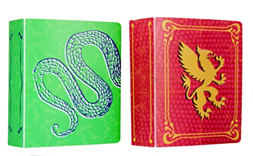 (The Dream Curator Collectible Small Mini Trading Card Album 2-Pack Red and Green)