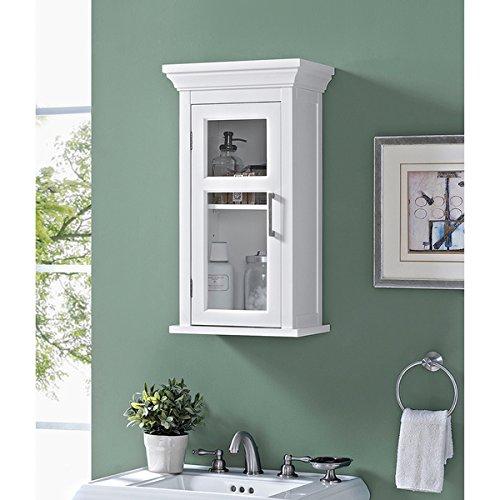 Amazon Wyndenhall Hayes Single Door Bathroom Wall Cabinet In