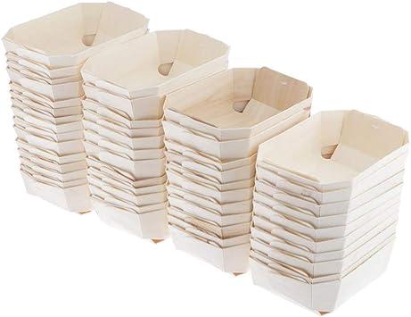 Compra joyMerit 50 Piezas De Cajas De Panadería De Madera para ...