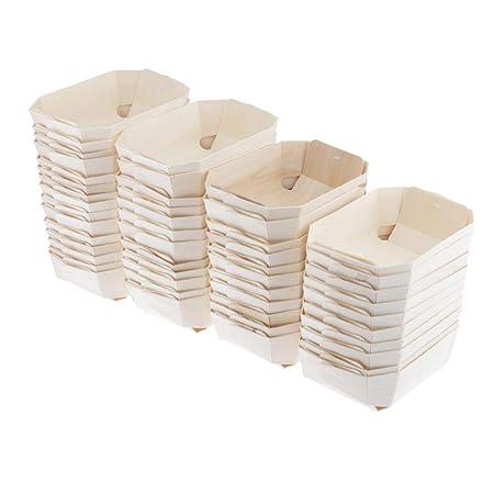 Compra joyMerit 50 Piezas De Cajas De Panadería De Madera ...