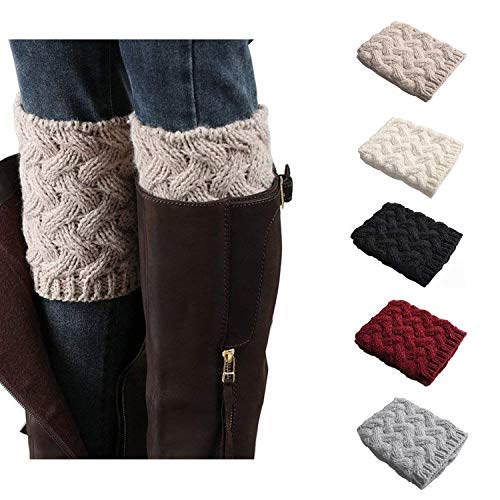 Bestjybt Womens Short Boots Socks Crochet Knitted Boot