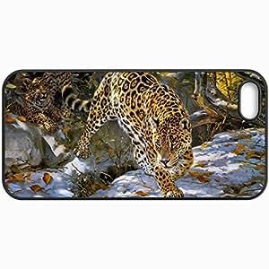 Fashion Unique Design Protective Cellphone Back Cover Case For iPhone 5 5S Case Donald Grant Jaguar Autumn Art Black
