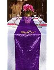 Charmant 13x48 Inch Sequin Table Runner Sparkly  Sequin Runner For Wedding  Party/Dinner Reception/Event/Bridal Shower (Purple)