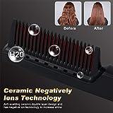 Hair Straightener Brush Ceramic Heating,Beard