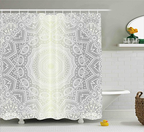 grey ombre shower curtain - 6