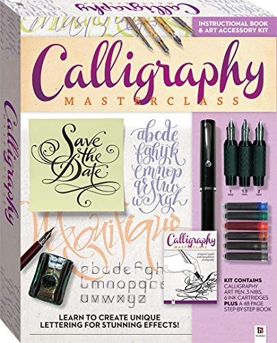 - Calligraphy Master Class Kit and Book: Learn to Create Unique Lettering for Stunning Effects!