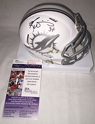 Miami Dolphins Autographed White Jersey (Ricky Williams Signed / Autographed Miami Dolphins Ice White Mini Football Helmet - JSA Certified)