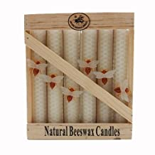 Green Pastures Wholesale Beeswax White Taper Candle, 6-Inch