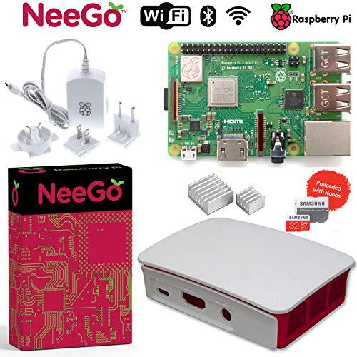 NEEGO Raspberry Pi 3 B+ (B Plus) Desktop Starter Kit 32Gb (Includes Original Accessories) White ()