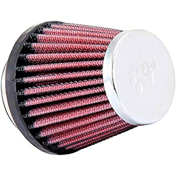 K/&N RC-2330 Universal Clamp-On Air Filter: Round Tapered; 2.125 in 76 mm Base; 2 in 54 mm Height; 3 in 76 mm Flange ID; 3 in 51 mm Top