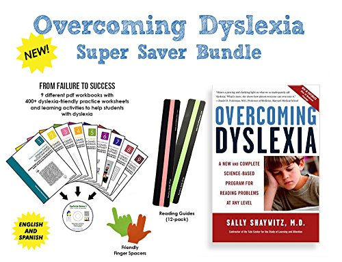 Overcoming Dyslexia by Sally Shaywitz + Dyslexia Brain Games CD | EASY BUNDLE | A New and Complete Science-Based Program for Reading Problems at Any Level | 9 PDF Workbooks