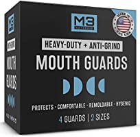 M3 Naturals Heavy Duty Mouth Guards for Teeth Grinding Night Clenching Moldable Trimmable Bruxism Anti Grind Dental...