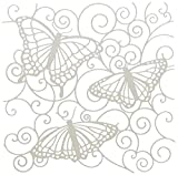 Crafters Workshop Template, 6 by 6-Inch, Flutterby