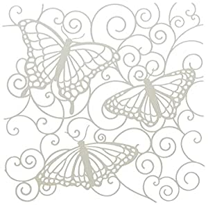 amazoncom crafters workshop template 6 by 6inch flutterby