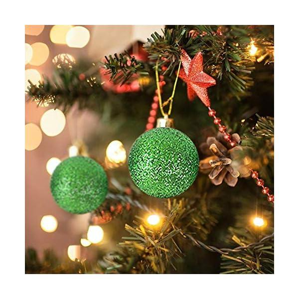 WELLXUNK Palline di Natale, 24pcs Albero di Natale Palla Decorazioni, Palline di Natale Opache, Palline di Natale Infrangibili, Palle infrangibili per Decorazioni Natalizie da Appendere (Verde) 3 spesavip