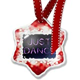 Christmas Ornament Just Dance Purple Lights at night, red - Neonblond