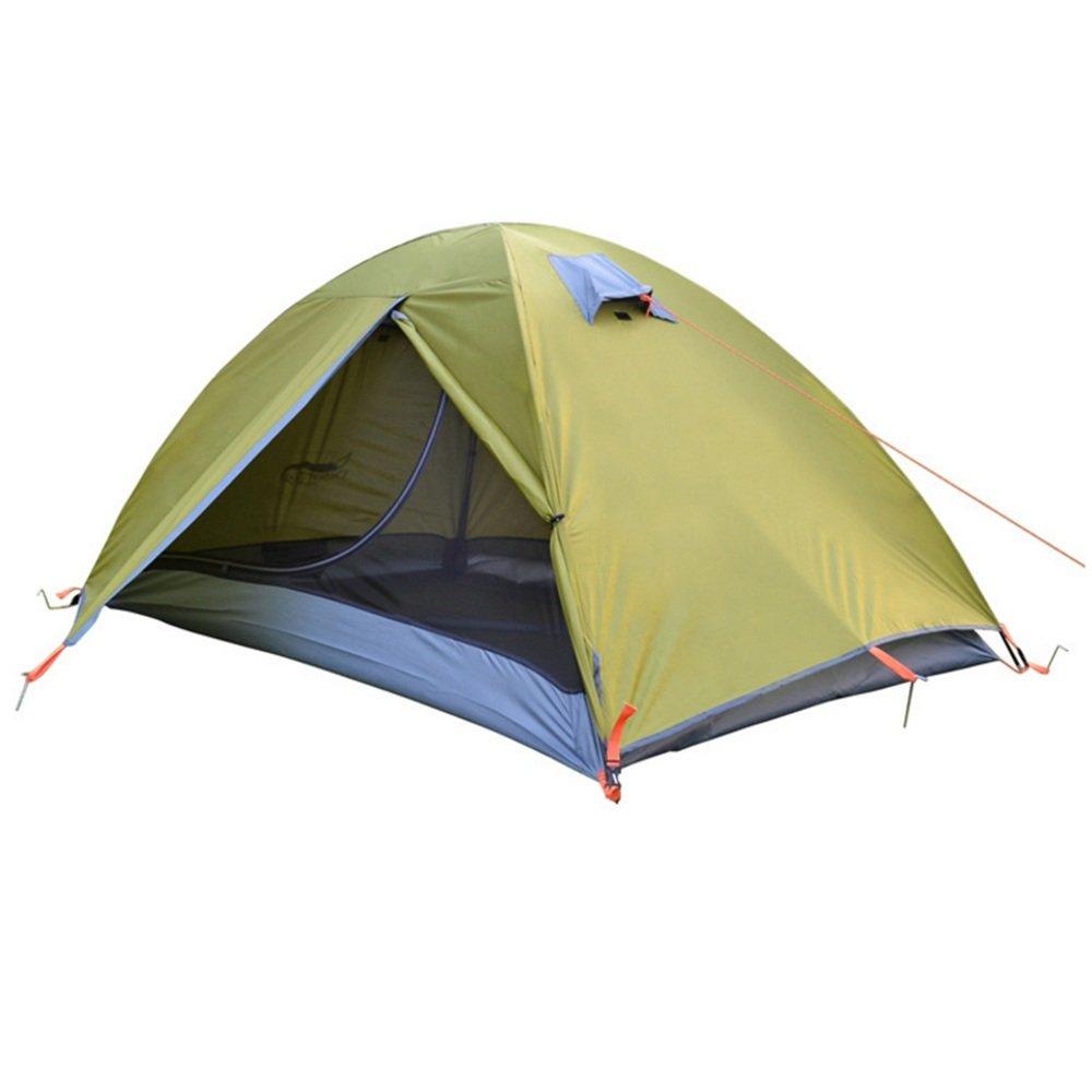 Cotangle Outdoor Leichtes Doppelzelt-Regen-Schutz-wanderndes Zelt des Zelt-2 Personen müssen für Sport im Freien, Sonnenschutz zusammengebaut Werden