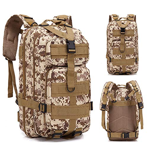 ALTBP Military Tactical Backpack Army 3 Day Assault Pack Molle Bug Out Bag Backpacks Rucksacks for Outdoor Hiking Camping Trekking Hunting (Medium 20L-30L, Desert Digital)