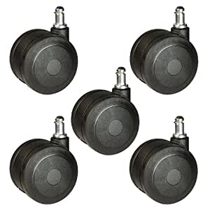 """Amazon.com: Large Heavy Duty Office Chair Casters 3"""" (75mm ..."""