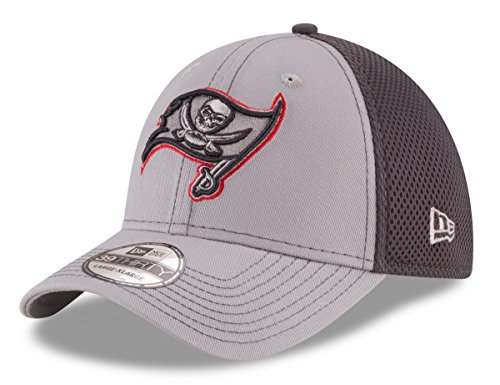 NFL Tampa Bay Buccaneers Grayed Out NEO 2 39THIRTY Stretch Fit Cap, Medium/Large, Gray