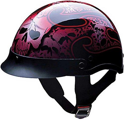 (HCI Tribal Skull Half Motorcycle Helmet. 100-132)
