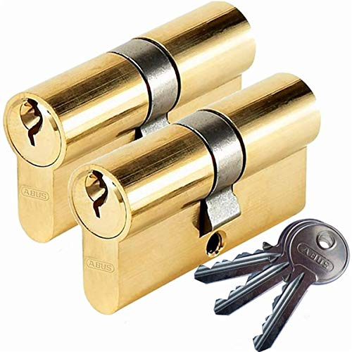 Lot 2 Cylindres de serrure porte ABUS E50 30x30 Barillet double entr/ée 3 cles S Abus