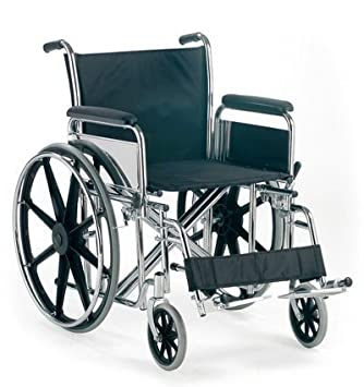 Silla de ruedas autopropulsable XL plegable: Amazon.es: Salud y cuidado personal
