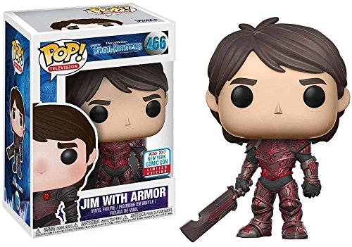 Funko 23722 Trollhunters-Jim with Armor Nycc 2017 Convention Figurina, Multicol