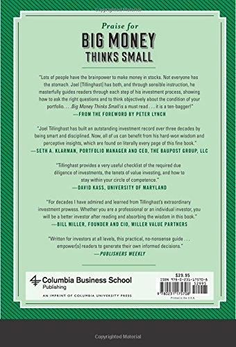 Big Money Thinks Small: Biases, Blind Spots, And Smarter Investing  (Columbia Business School Publishing): Joel Tillinghast: 9780231175708:  Amazon.com: Books