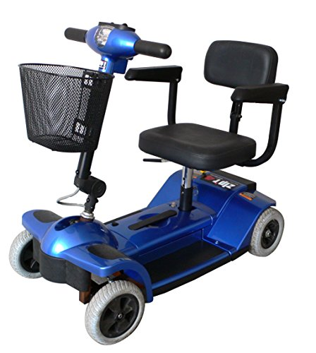 Zip'r Mobility ZIPR4XTRABLUE 4 Wheel Upgraded Travel Scoo...