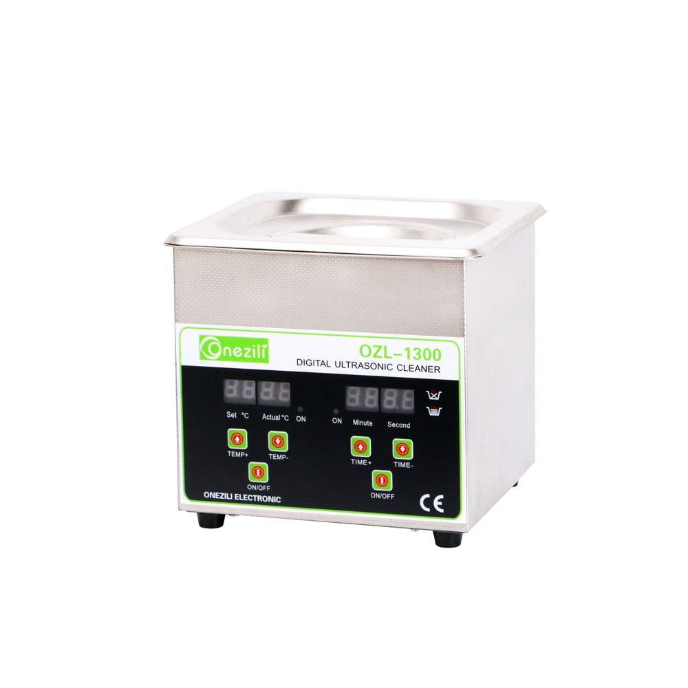 ONEZILI Digital Professional Industrial Ultrasonic Cleaner With Timer and Adjustable Heating Function For Jewelry Rings Necklace Watches Denture DVDs Gun Parts Labs Fittings, 1.3L