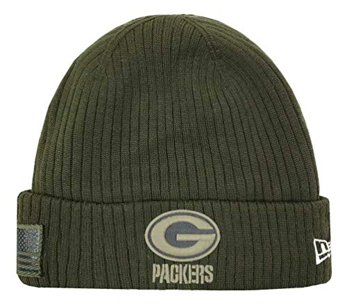 New Era 2018 Mens Salute to Service Knit Hat (Green Bay Packers)