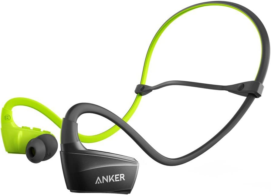 Anker SoundBuds Sport NB10 Bluetooth Headphones, IPX5 Water-Resistant Bluetooth Headset with Adjustable Neckband, Sport Earbuds with Mic and CVC 6.0 Noise Cancellation for Work Out, Gym and Running