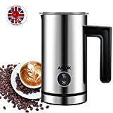 : Aicok Milk Frother, Stainless steel Electric Milk Steamer, Heater and Foamed for Coffee, Latte, Cappuccino - 300ML