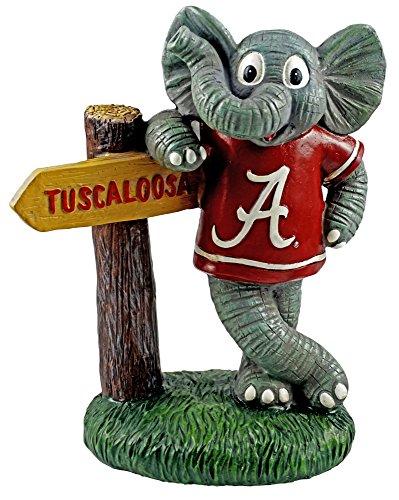 Oxbay University of Alabama Big Al Mascot Figurine with Sign