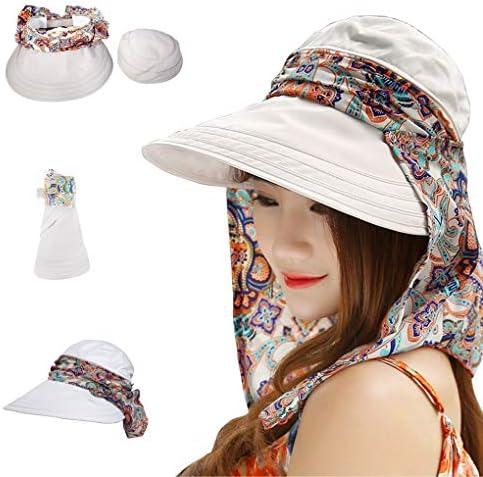 Unbekannt Strand Sonnenhut Damen Sommer Sonne Hut Sonnenschutz Anti-UV-Strand Hut Sch/ützen Sie den Hals entlang der Hut Weich und bequem