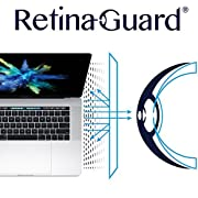 RetinaGuard Macbook Pro 15 Inch (2018 2017 2016) Anti Blue Light Screen Protector (Transparent), SGS and Intertek Tested, Blocks Excessive Harmful Blue Light, Reduce Eye Fatigue and Eye Strain