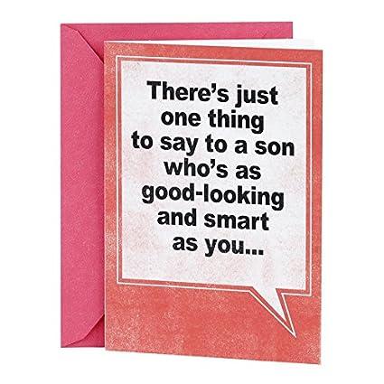 Amazon Hallmark Shoebox Funny Birthday Card For Son Good