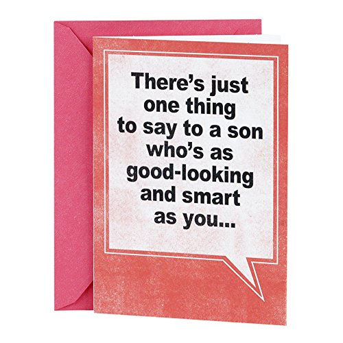 Hallmark Shoebox Funny Birthday Greeting Card for Son (Speech Balloon)